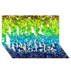 Glitter 4 Best Wish 3d Greeting Card (8x4)