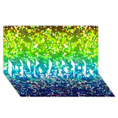 Glitter 4 ENGAGED 3D Greeting Card (8x4)