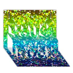 Glitter 4 You Rock 3d Greeting Card (7x5)