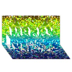 Glitter 4 Merry Xmas 3D Greeting Card (8x4)