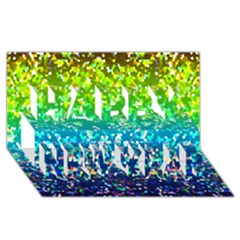 Glitter 4 Happy New Year 3D Greeting Card (8x4)