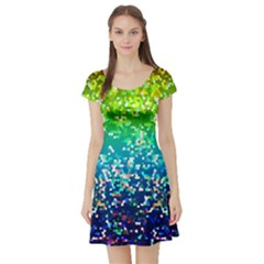 Glitter 4 Short Sleeve Skater Dresses