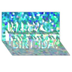 Mosaic Sparkley 1 Happy Birthday 3D Greeting Card (8x4)