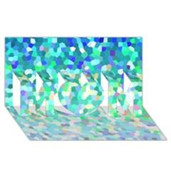 Mosaic Sparkley 1 MOM 3D Greeting Card (8x4)