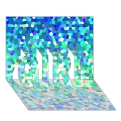 Mosaic Sparkley 1 GIRL 3D Greeting Card (7x5)