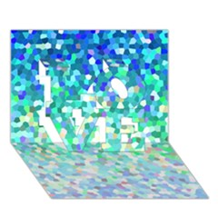 Mosaic Sparkley 1 LOVE 3D Greeting Card (7x5)