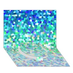 Mosaic Sparkley 1 Circle Bottom 3D Greeting Card (7x5)