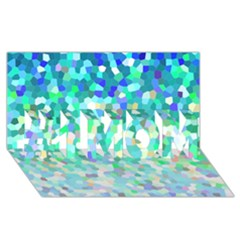 Mosaic Sparkley 1 #1 MOM 3D Greeting Cards (8x4)