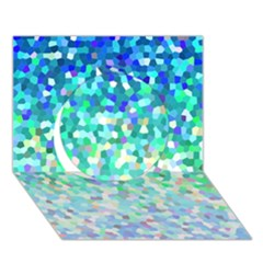 Mosaic Sparkley 1 Circle 3D Greeting Card (7x5)