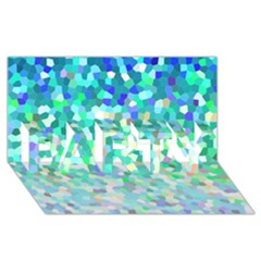 Mosaic Sparkley 1 Party 3d Greeting Card (8x4)