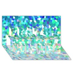 Mosaic Sparkley 1 Best Wish 3d Greeting Card (8x4)