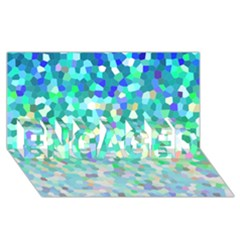 Mosaic Sparkley 1 ENGAGED 3D Greeting Card (8x4)