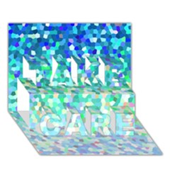 Mosaic Sparkley 1 TAKE CARE 3D Greeting Card (7x5)
