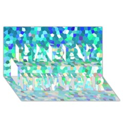 Mosaic Sparkley 1 Happy New Year 3D Greeting Card (8x4)
