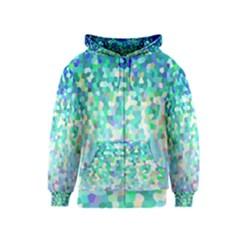 Mosaic Sparkley 1 Kids Zipper Hoodies