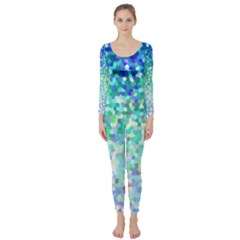 Mosaic Sparkley 1 Long Sleeve Catsuit
