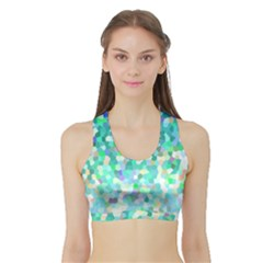 Mosaic Sparkley 1 Women s Sports Bra with Border