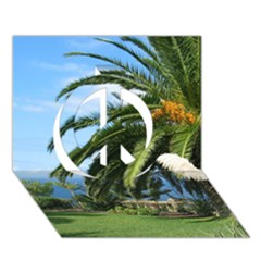Sunny Tenerife Peace Sign 3d Greeting Card (7x5)