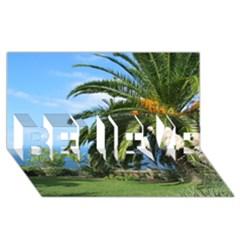 Sunny Tenerife BELIEVE 3D Greeting Card (8x4)