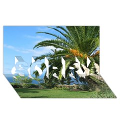 Sunny Tenerife SORRY 3D Greeting Card (8x4)