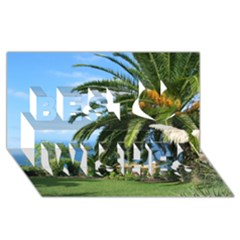 Sunny Tenerife Best Wish 3D Greeting Card (8x4)