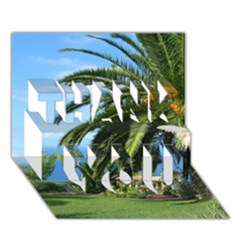 Sunny Tenerife THANK YOU 3D Greeting Card (7x5)
