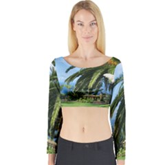 Sunny Tenerife Long Sleeve Crop Top