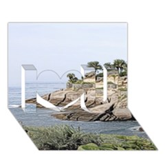 Tenerife,painted Version I Love You 3D Greeting Card (7x5)