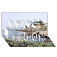 Tenerife,painted Version Best Friends 3d Greeting Card (8x4)