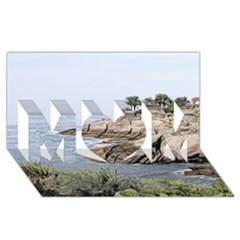 Tenerife,painted Version MOM 3D Greeting Card (8x4)