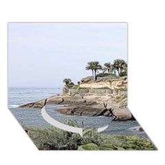 Tenerife,painted Version Circle Bottom 3D Greeting Card (7x5)