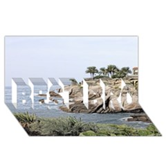 Tenerife,painted Version BEST BRO 3D Greeting Card (8x4)