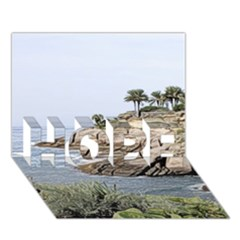 Tenerife,painted Version Hope 3d Greeting Card (7x5)