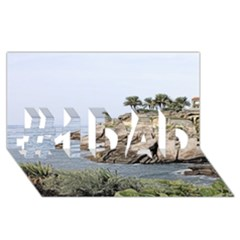 Tenerife,painted Version #1 DAD 3D Greeting Card (8x4)