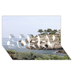 Tenerife,painted Version Sorry 3d Greeting Card (8x4)