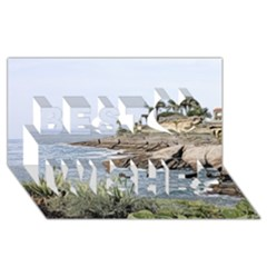 Tenerife,painted Version Best Wish 3D Greeting Card (8x4)