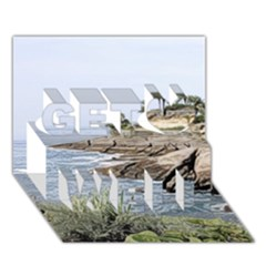 Tenerife,painted Version Get Well 3d Greeting Card (7x5)
