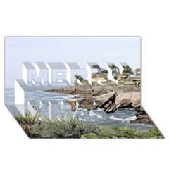 Tenerife,painted Version Merry Xmas 3D Greeting Card (8x4)