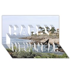 Tenerife,painted Version Happy New Year 3D Greeting Card (8x4)