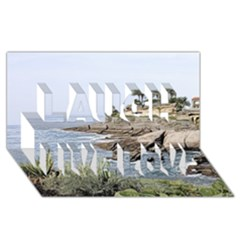 Tenerife,painted Version Laugh Live Love 3D Greeting Card (8x4)