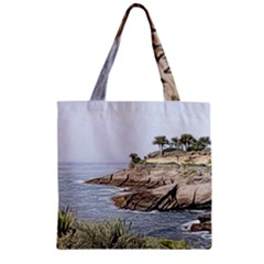 Tenerife,painted Version Zipper Grocery Tote Bags