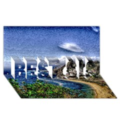 Tenerife 12 Effect Best Sis 3d Greeting Card (8x4)