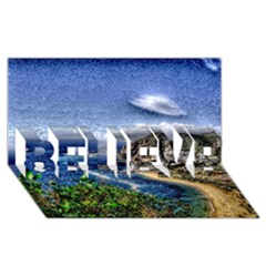 Tenerife 12 Effect BELIEVE 3D Greeting Card (8x4)