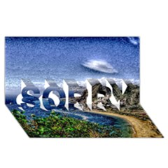 Tenerife 12 Effect SORRY 3D Greeting Card (8x4)