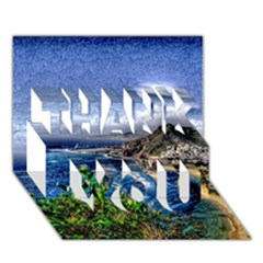 Tenerife 12 Effect THANK YOU 3D Greeting Card (7x5)
