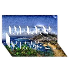 Tenerife 12 Effect Merry Xmas 3D Greeting Card (8x4)