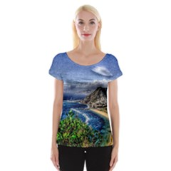 Tenerife 12 Effect Women s Cap Sleeve Top