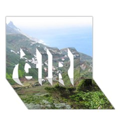 Tenerife 10 GIRL 3D Greeting Card (7x5)