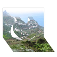Tenerife 10 Heart 3d Greeting Card (7x5)