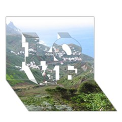 Tenerife 10 Love 3d Greeting Card (7x5)